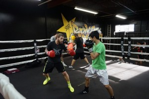 Boxing Class Sparring