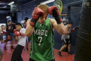 Boxing Class Bag Work