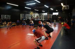 Boxing Class Leg Work