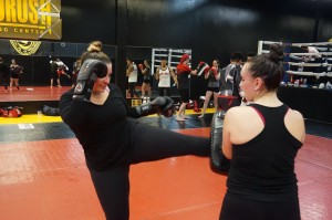 Muay Thai Class Kicking Pad