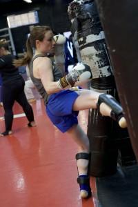 Muay Thai Class Kicking Bag