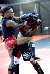 Muay Thai Kickboxing Knee from Clinch