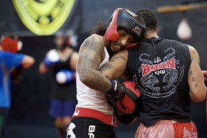 Muay Thai Kickboxing Clinch