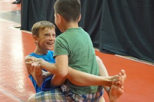 Mini Me MMA Wrestling Fun
