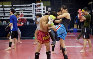 Muay Thai Kickboxing Knee